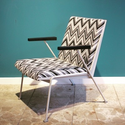 Oase Chair in Black & White Pattern by Wim Rietveld for Ahrend de Cirkel