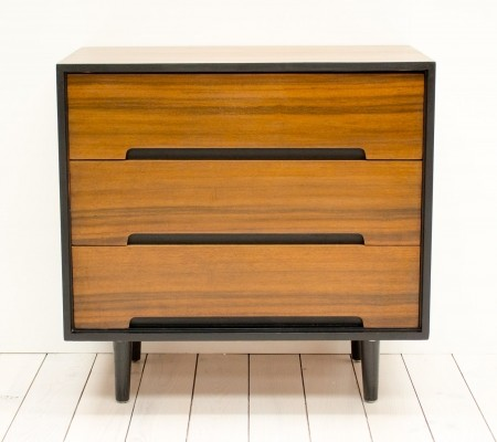 1950s C Range Walnut Chest of Drawers by Stag