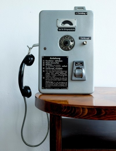 Vintage Phone from Austrian Phone Booth, 1972