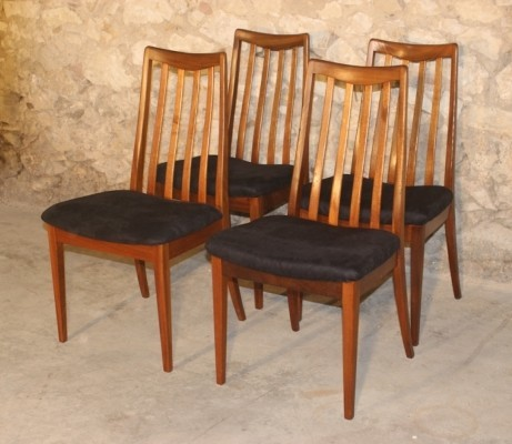 Set of 4 vintage teak dining chairs by G-Plan