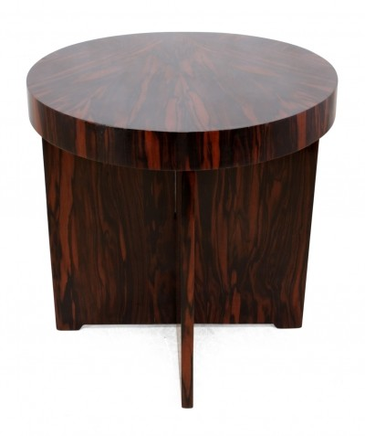 Art Deco coffee table in Macassar Ebony