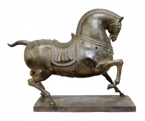 Bronze Horse Sculpture, c1950