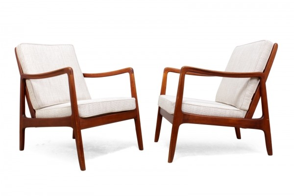 Pair of Armchairs by Ole Wanscher for France & Son c1950