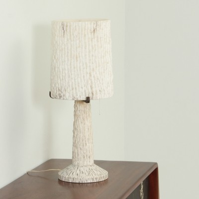 Large Alabaster Table Lamp from 1950s, Spain