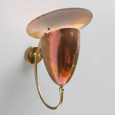 Swedish reflector wall lamp or sconce