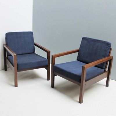 Pair of lounge chairs, 1950s
