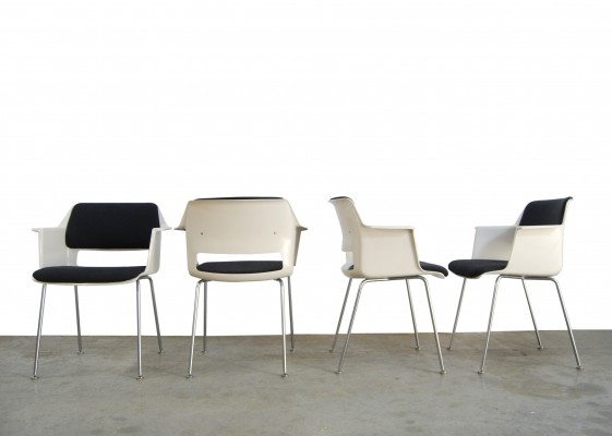 Vintage industrial dining chairs by A.R. Cordemeyer for Gispen, 1960s