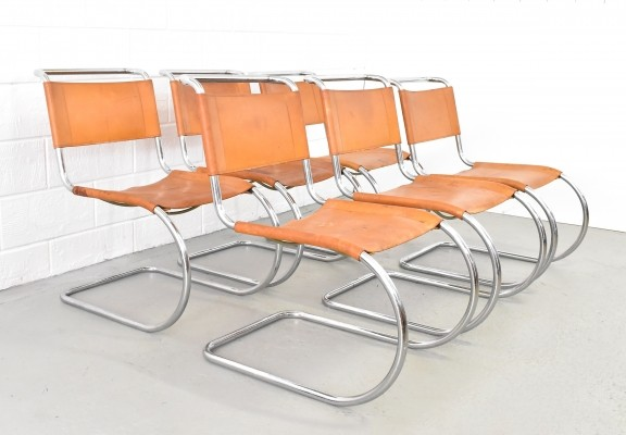 Set of 6 MR10 dining chairs by Ludwig Mies van der Rohe for Thonet, 1960s