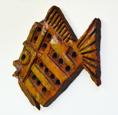 Ceramic 'Fish' wall sculpture, 1960s