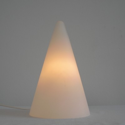 Frosted Glass TeePee Table Lamp by SCE France 1970's