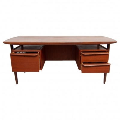 Mid-Century Modern Floating Top Desk by Tijsseling for Hulmefa, 1960s