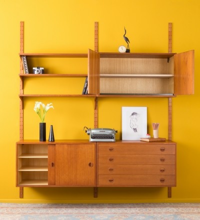 Danish teak wall unit by HG Furniture, 1960s