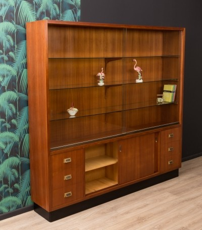 German showcase by Emde Ladenbau in walnut veneer, 1950s