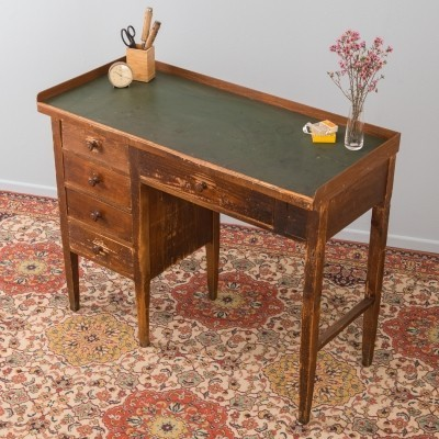 Working table in softwood & linoleum, 1920s/30s