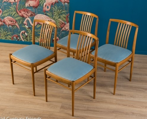 A set of four dining chairs in Scandinavian design, 1950s