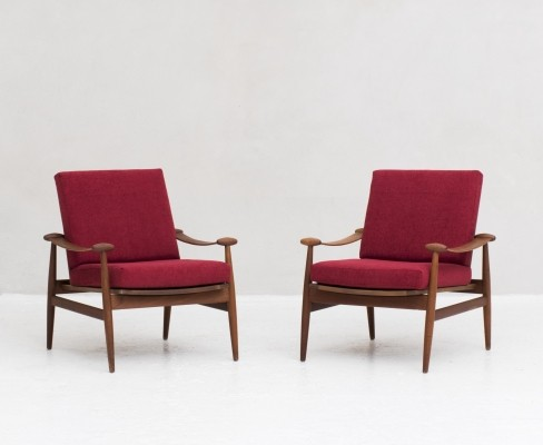 Pair of Model FD 133 chairs by Finn Juhl for France & Son, Denmark 1954
