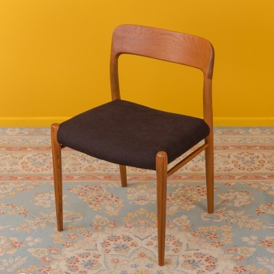 Dining chair Model 75 by Niels O. Møller, 1950s