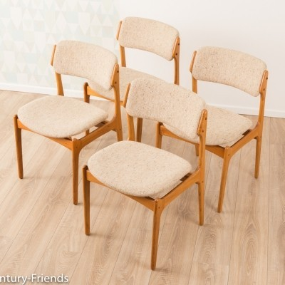 Dining chairs by O.D. Møbler from the 1960s, set of 4