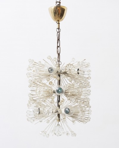 Very rare Sputnik chandelier designed by Emil Stejnar, circa 1955