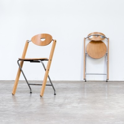 Pair of Ruud Jan Kokke folding chairs for Kembo, 1980s