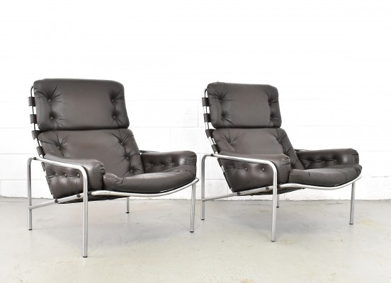 2 x SZ09 Nagoya lounge chair by Martin Visser for Spectrum, 1960s