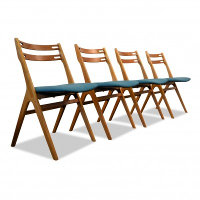 Set of 4 Model 10 dinner chairs by Jørgensens Møbelfabrik, 1960s