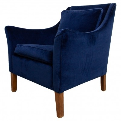 Pair of 'Giorgetti' Club Chairs with royal blue velvet