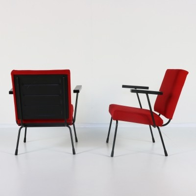 Pair of Model 415 / 1401 arm chairs by Wim Rietveld for Gispen, 1960s