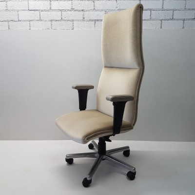 Green mohair office chair by Geoffrey Harcourt for Artifort