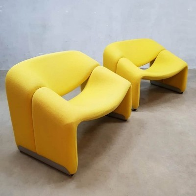 Vintage design F598 Groovy lounge chair by Pierre Paulin for Artifort