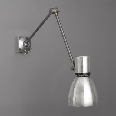 1950s Eastern Bloc silver machinists wall light
