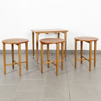 Poul Hundevad nesting table, 1960s