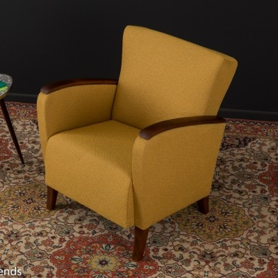 Lounge chair in mustard colors, 1950s