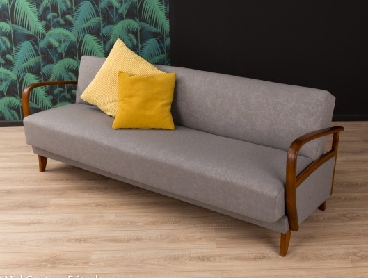 Sofa/daybed in grey from the 1950s