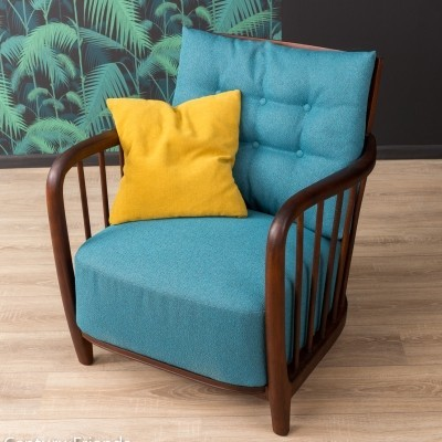 Armchair in turquoise, 1950s