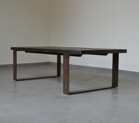 Brutalist slate stone coffee table by Paul Kingma, The Netherlands 1960s