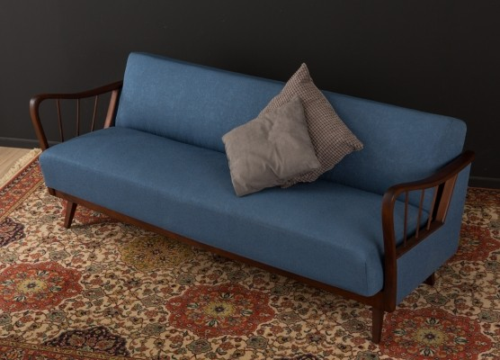 Sofa/daybed in blue, 1950s