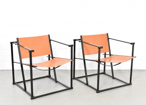 Pair of FM61 lounge chairs by Radboud van Beekum for Pastoe, 1970s