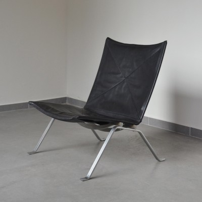 First edition PK22 easy chair by Poul Kjaerholm for E. Kold Christensen, 1950's