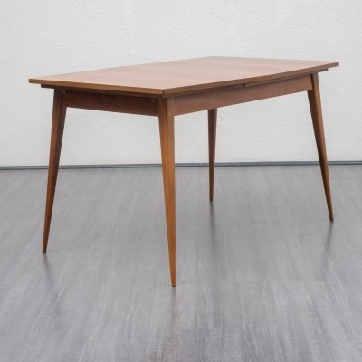 1950s dining table in walnut