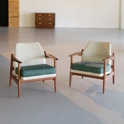 Set of 2 Teak Lounge Chairs by Propos Hulmefa, 1960s