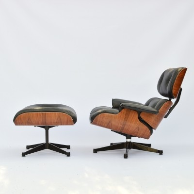 Eames Lounge Chair & Ottoman Rosewood Herman Miller Int. Collection by Vitra