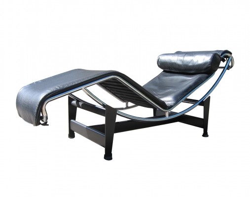 Vintage Cassina Lc4 'chaise longue' by Le Corbusier & Charlotte Perriand, 1980s