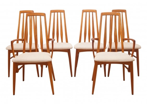 Set of 6 Eva Dining Chairs by Niels Koefoed, 1960s