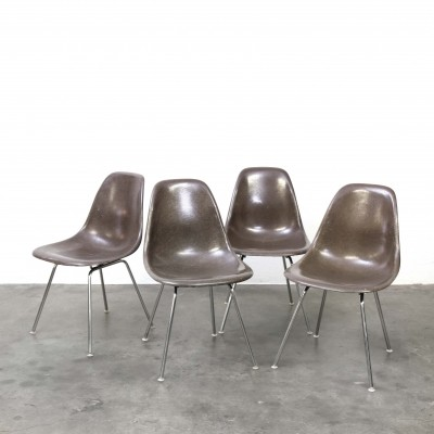 Set of 4 Eames DSX Side Chairs by Herman Miller, 1960s