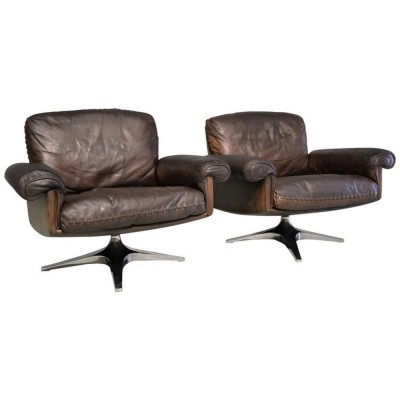 Pair of DS 31 lounge chairs by De Sede, 1960s