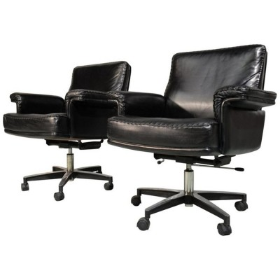 Pair of DS 35 office chairs by De Sede, 1960s