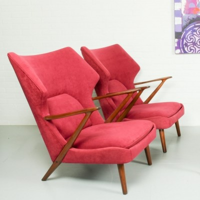 Lounge Chairs by Kurt Olsen for Slagelse Mobelvaerk, 1950s