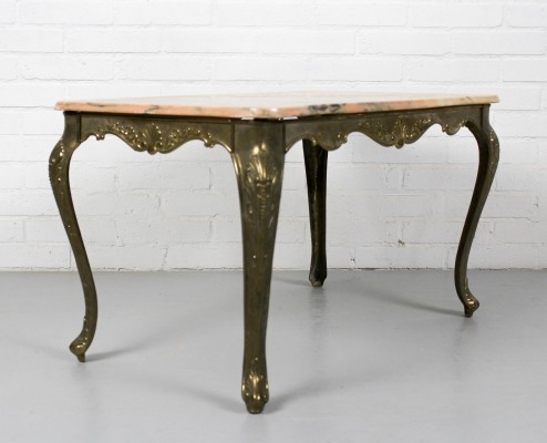 French Marble & Brass Side or coffee table