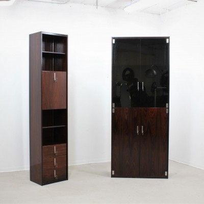 Vintage set of 2 Italian rosewood cabinets by Vittorio Introini for Saporiti, 1960s